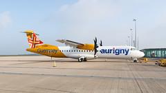 Aurigny ATR72 at Guernsey Airport