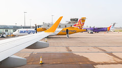 Aurigny Embraer 195 Wing View