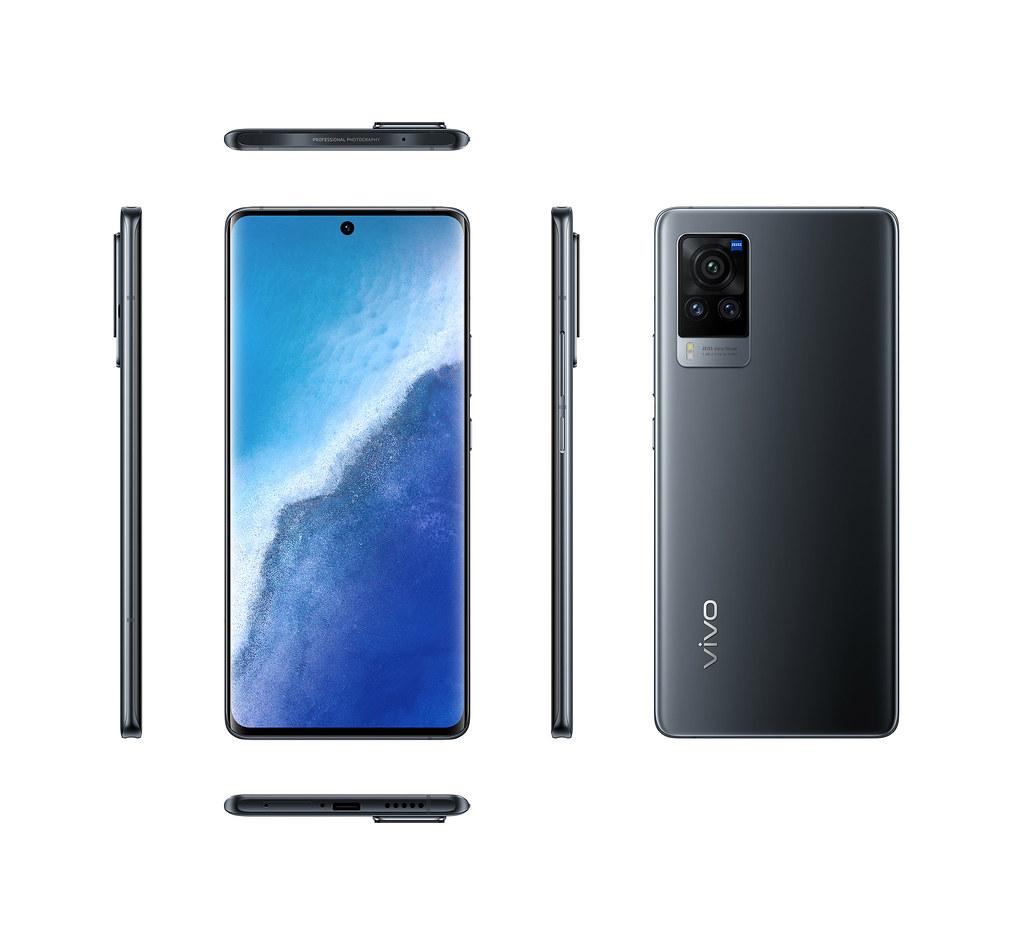 搭載「微雲台2.0」全新旗艦手機vivo X60 Pro迷霧黑