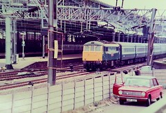 Photo of Rugby Station from the old NCP carpark October 1983