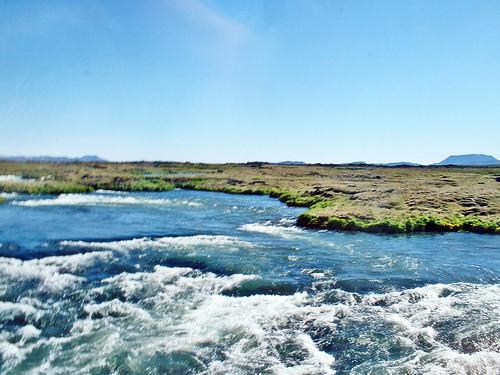 Islande, la rivière glacière de Godafoss