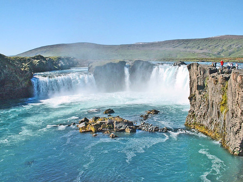 Islande, les chutes de Godafoss sur le fleuve Skjalfandafljot