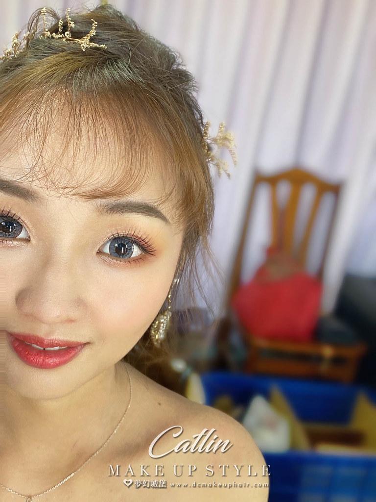 【新秘Catlin 】bride媛婷 訂婚造型 /戶外婚禮造型
