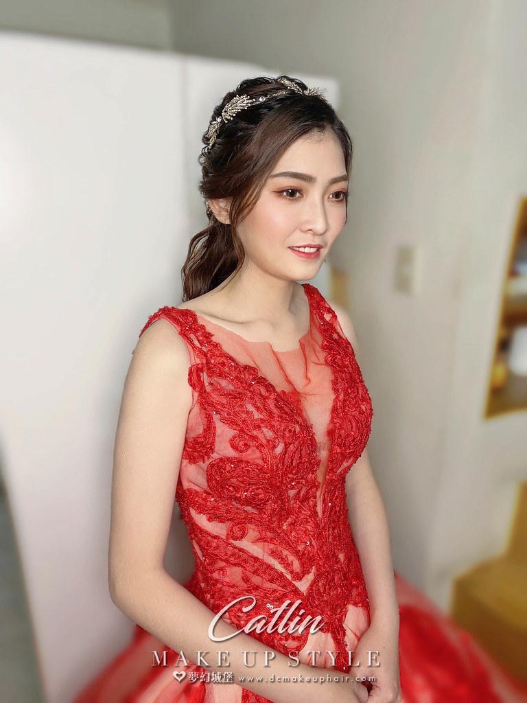 【新秘Catlin 】bride若芸 訂婚造型 /  韓系低馬尾