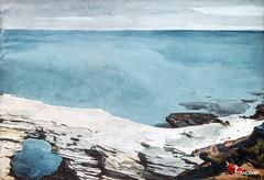 Natural Bridge, Bermuda (High Tide) (1901) by Winslow Homer. Original from The MET museum. Digitally enhanced by rawpixel.