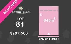 Lot 81, Spicer Street (Aston Hills), Mount Barker SA