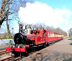 Photo of Isle of Man Railway - No. 4 Loch departs Castletown with the 13:50 from Douglas on the 7th April 2015