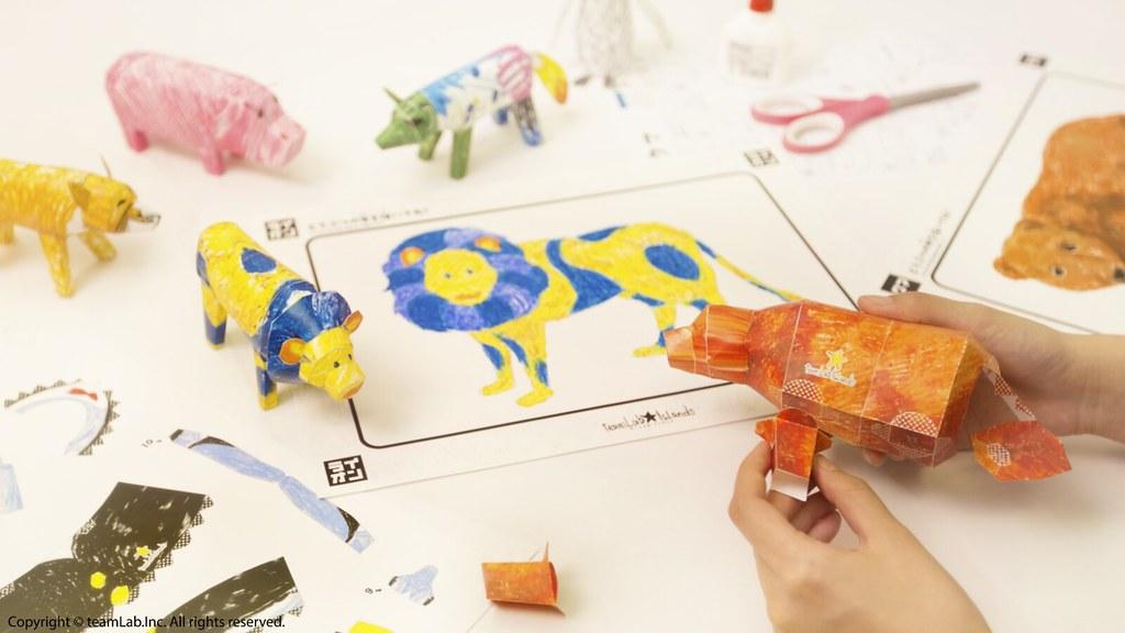 九、彩繪動物立體紙模型