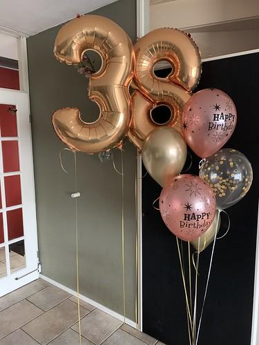 Ballonboeket Verjaardag 38 Jaar