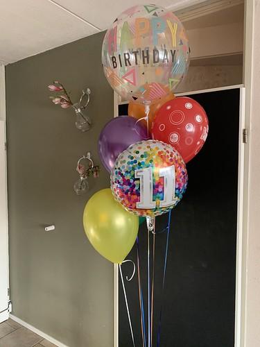 Ballonboeket Verjaardag 11 Jaar