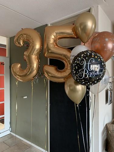 Ballonboeket Verjaardag 35 Jaar