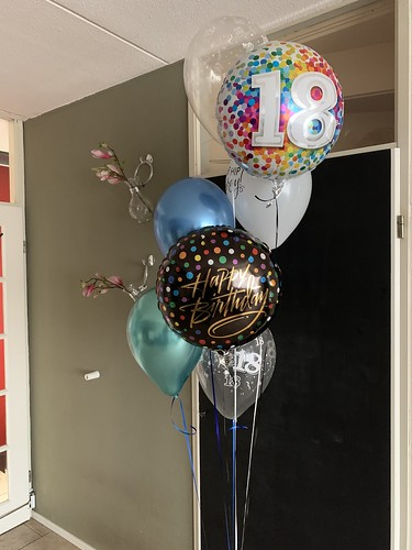 Ballonboeket Verjaardag 18 Jaar