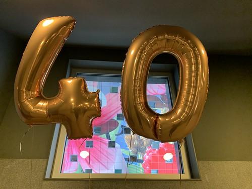 Folieballon Cijfer 40 Verjaardag Markthal Rotterdam