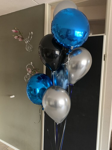 Ballonboeket Blauw Zwart Zilver
