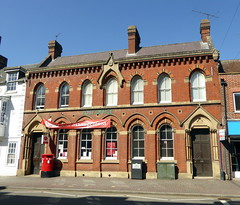 Photo of 1870 Barclays Bank Building - 30, High Street Newport Pagnell - 04Apr21 grade II listed.