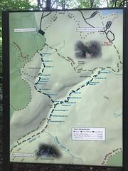 SRO and Rickets Glen Trail map