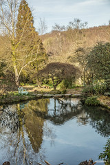 Photo of One of Churchill's ponds in the grounds of Chartwell, Westerham, Kent. This was his private home during and after the Second World War.