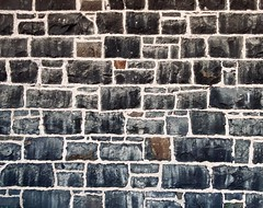 99/365 I found this beautiful old bluestone wall in Brunswick (Lygon Cycles on Lygon St) with its unusual mortar pattern and glorious colours.   Window to the past.