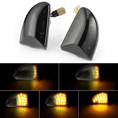 Smart ForTwo 451Dynamic LED Side Indicators repeater indicator pair smoke or clear
