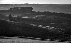 Photo of Farm, Kaim Road,Lochwinnoch, Renfrewshire, Scotland, UK B&W