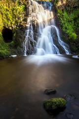 Photo of Waterfall,Kaim Burn Road,Lochwinnoch, Renfrewshire, Scotland, UK B&W