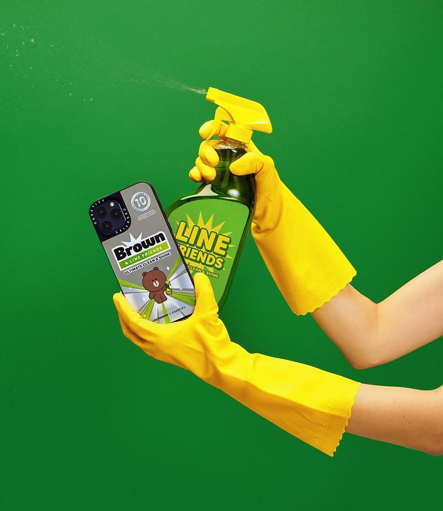 7. LINE FRIENDS x CASETiFY 系列以「清潔」為設計主題,將專利抗菌技術引入各種單品中