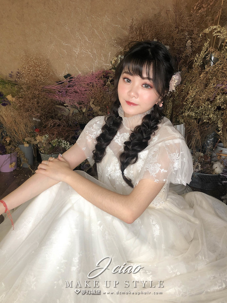 【新秘婕喬】新娘造型創作 / 田園少女辮子