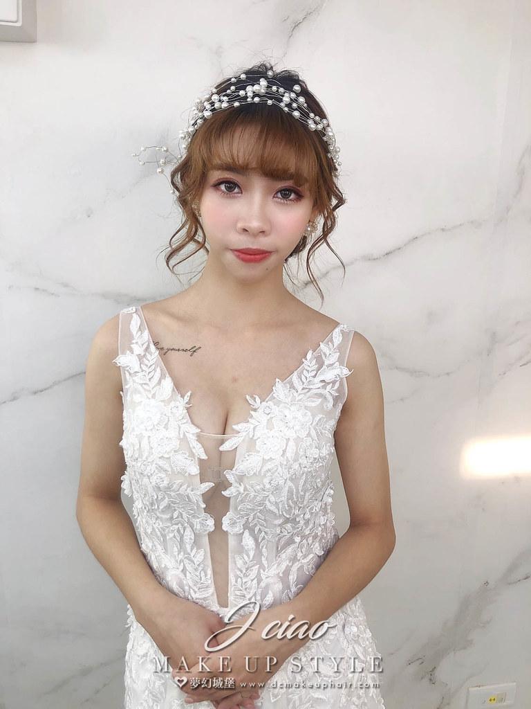 【新秘婕喬】新娘造型創作 /珍珠浪漫造型