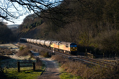 Photo of Colas 56105 and 56090 passing Hoghton heading towards Preston with 6M32 on a frosty morning.