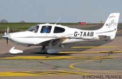 Photo of G-TAAB arriving at SaxonAir