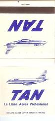 TAN airline matchbook