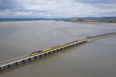 Photo of 37116 and 37421 Arnside Viaduct