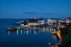 Photo of Tenby harbour at dusk