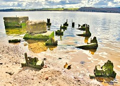 Photo of WW2 moorings on the River Clyde Scotland