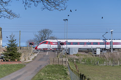 Photo of Class 800 800108 at Wooden Gate Level Crossing