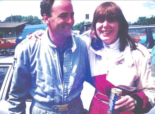 Post race happiness - Gavin Watson and Jane Cheffings