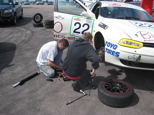 Paul Plant and Gary Walker at Silverstone 2009