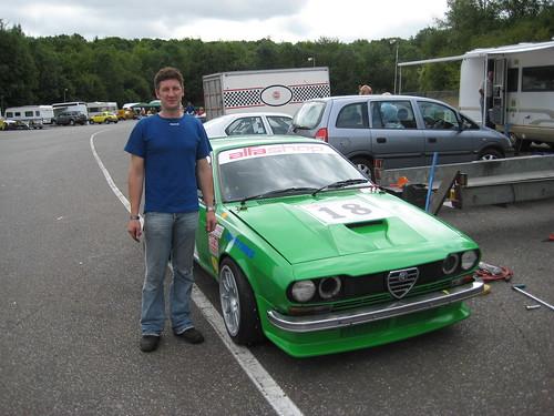 Nev Simpson with V6 Alfetta GTV