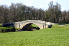 Photo of Circa 1793 Tyringham Bridge 13Apr21 Grade I listed & an Ancient  Monument