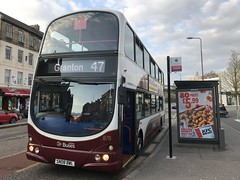 Photo of 878 at Potterrow waiting to change over 362 on the 47