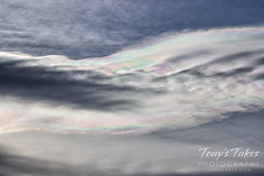 April 5, 2021 - Iridescent clouds in the sky. (Tony's Takes)