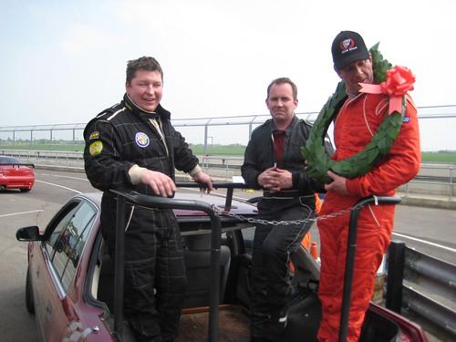 Castle Combe Podium car = r to l Tim, Adie, Neil