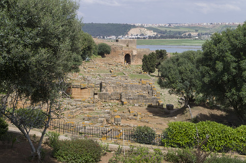 Remains of the buildings from the Roman period at Chellah, 20.03.2015.