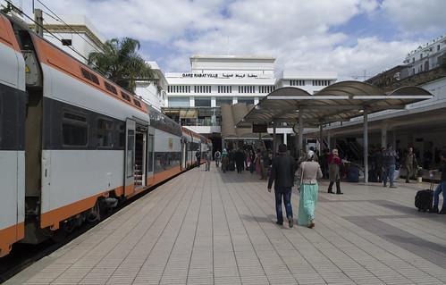 Electric train AnsaldoBreda Z2M at the Rabat Ville railway station, 20.03.2015.