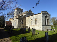 Photo of Circa 12th century - Church of All Saints in Lathbury 13Apr21 grade I listed.