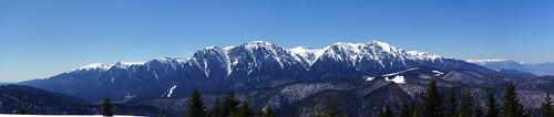 Bucegi Mountains seen from the Clăbucetul Taurului peak