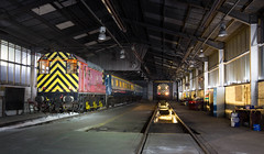 Photo of 08 605 and 08 704 at Knottingley Depot.
