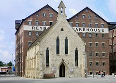 Photo of Contrast. Mariners' Chapel & Reynolds Warehouse