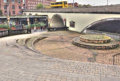 Photo of Mersey square in the town of Stockport