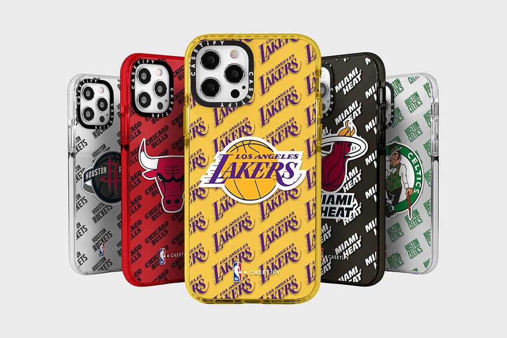 3. NBA x CASETIFY 系列融合 NBA 各球隊特色,包含各隊 Logo 及 CASETiFY 經典的貼紙款式設計